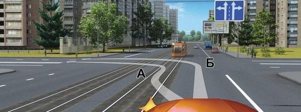 Можно ли поворачивать налево через трамвайные пути