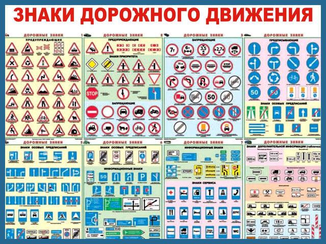 Дорожные знаки: краткая классификация