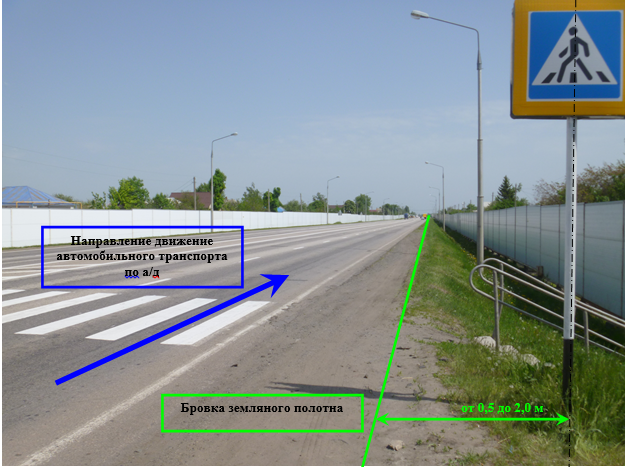 Как выглядит дорожный знак пешеходный переход?